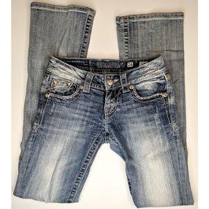 Miss Me Bootcut Denim Jeans Rhinestones Bling 24